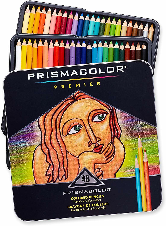 Prismacolor Premier Soft Core Colored Pencils 48 Colored Pen