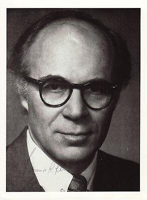 Lawrence Klein Originalautogramm auf Großfoto Nobel WiWi 1980 autograph
