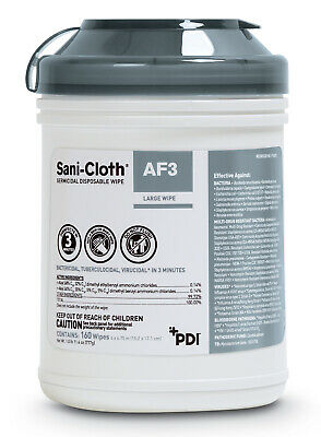 Pdi Sani-cloth Af3 Germicidal Disposable Large Disinfecting Surface Wipes Sealed