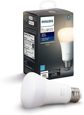Philips Hue White A19 LED Smart Bulb Bluetooth & Zigbee compatible