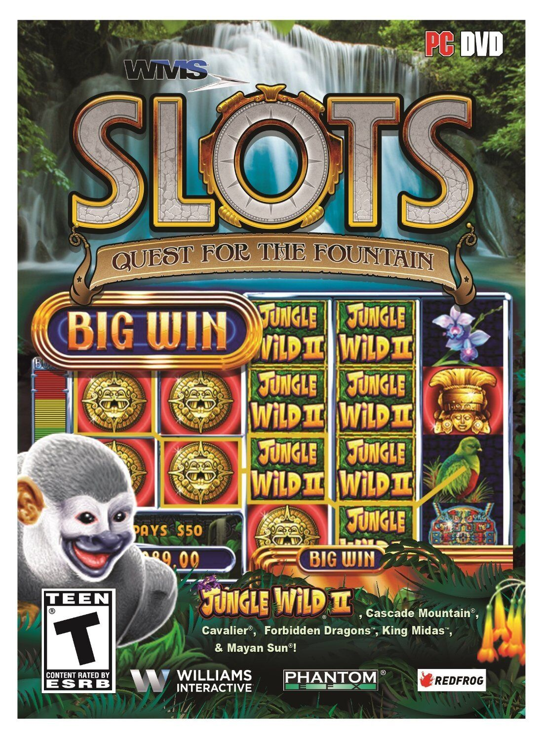 Computer Games - WMS Slots Quest For The Fountain PC Games Window 10 8 7 XP Computer slot machine