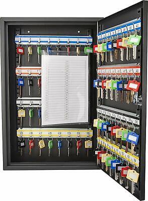 64 Key Storage Cabinet Lock Box Safe Organizer Wall Mount Car Dealership Holder
