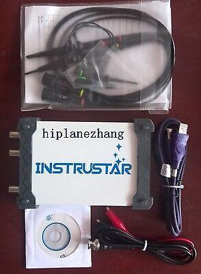 Pc-based Usb Oscilloscope 2ch 20mhz 48mss Signal Generator Fft Data Logger 4in1