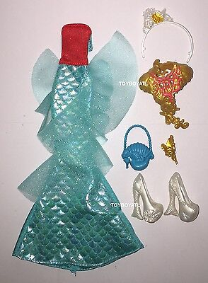Ever After High Outfits (Ever After High Meeshell Mermaid Doll Outfit Clothes Tail Dress Shoes NEW)
