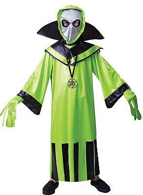 Jungen Grün Alien Raum Marsmensch Halloween Kostüm Kleid Outfit 4-12 (Raum Alien Kostüm)
