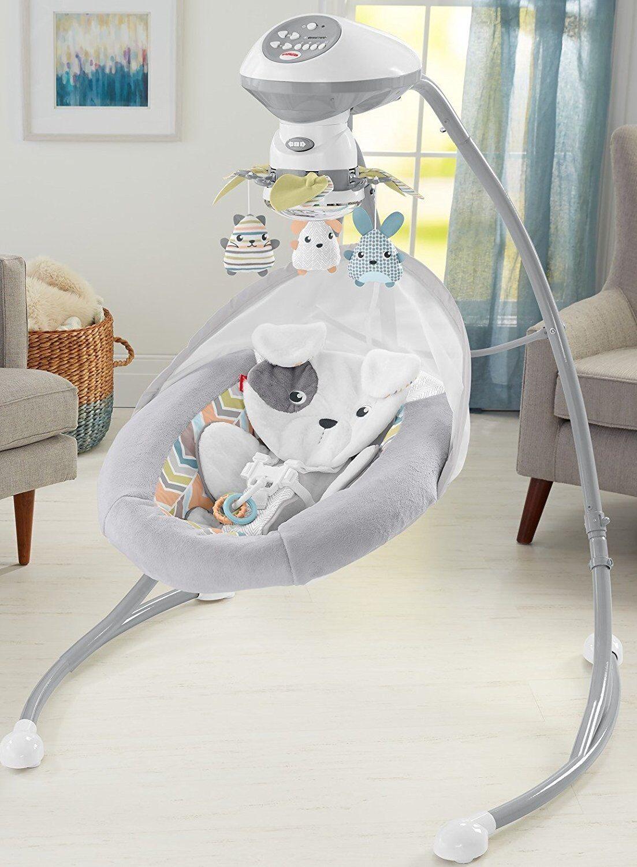 Fisher-Price Sweet Snugapuppy Dreams Cradle 'n Swing Baby In
