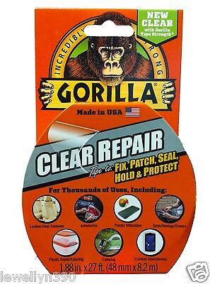 Gorilla Glue Clear Repair Tape 1.88 X 27ft All Purpose