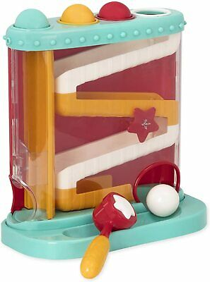 Battat Pound and Roll Learning Toy for Toddlers Includes Hammer + 4 Balls