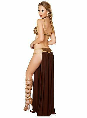 Sexy Star Wars Women Princess Leia Cosplay Bra Top Dress Bikini Slave Costume - Leia Slave Bikini