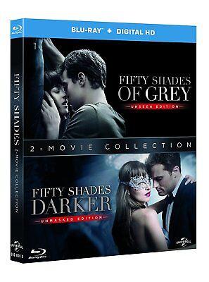 Fifty Shades Of Grey   Fifty Shades Darker 2 Pack  Blu Ray  Region Free   New
