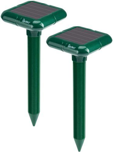 Redeo Solar Powered Ultrasonic Mole Repellent Gopher Repeller Vole Deterrent