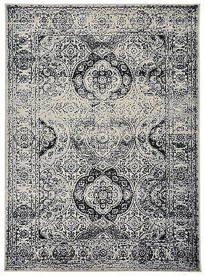 Aubusson Area - Oriental Vintage Persian Aubusson Grey Ivory Area Rug 5' Round, 5'x7', 8'x10'