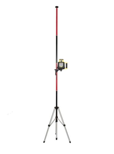 AdirPro Red Multi Function Telescoping Laser Pole With Tripod and Mount