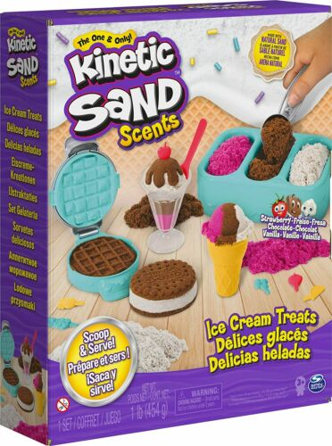 🚛Free Shipping! {NEW} Kinetic Sand Scents Ice Cream Treats Playset 3 Colors