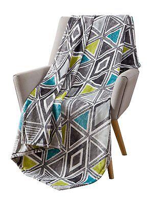 Cosmopolitan Decorative Throw Blanket Soft Plush Modern Geometric Patterned