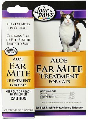 Four Paws Aloe Ear Mite Treatment 0.75 oz | Soothing Relief for - Paw Treatment