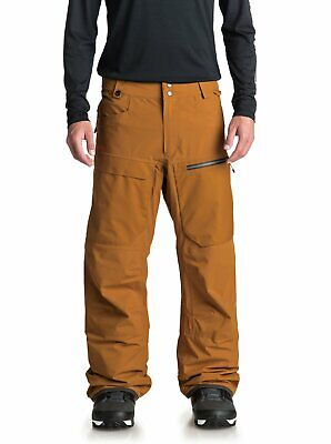 2019 NWT MENS QUIKSILVER TRAVIS STRETCH SNOWBOARD PANTS $290 L Golden Brown