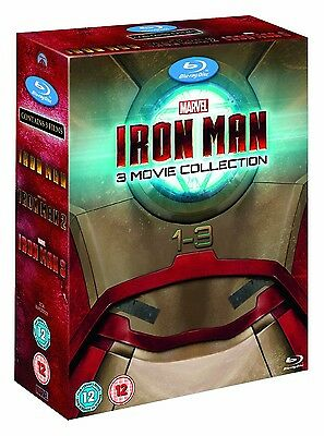 IRON MAN 1-3 [Blu-ray Set] The Complete Marvel Trilogy 1 2 3 Collection Avengers