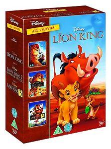The Lion King 1, 2 & 3 Trilogy DVD Box Set R4 Walt Disney New Sealed