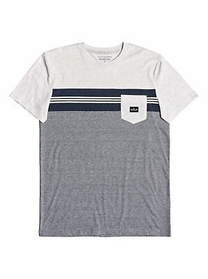 $35 Quiksilver Holy Kiss Men's Pocket Tee Striped Surf Casual Size Medium