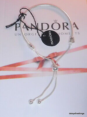 NEW/TAGS  AUTHENTIC PANDORA SILVER SLIDING BRACELET #597125CZ-2
