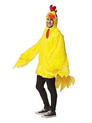 Adulto Uomo Donna Giallo Pulcino Pollo Festa Del Libro Nubilato Costume Vestito