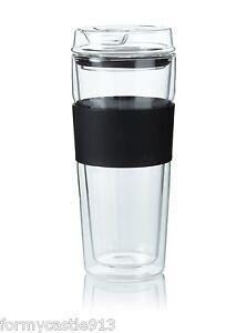 TAKEYA-12421-Double-Wall-Glass-Coffee-Tea-Travel-Tumbler-16oz-Black