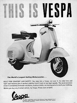 "1965 Vespa VBB 150 Italian Scooter ""This Is Vespa"" Original Ad"