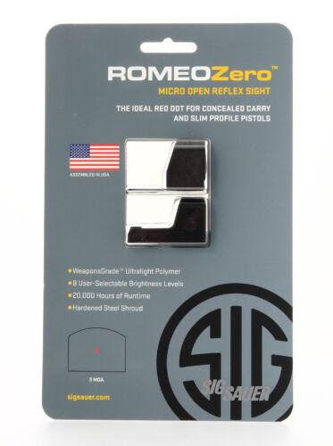 SIG SAUER ROMEO ZERO 3 MOA MICRO RED DOT SOR01300 REFLEX SIGHT BLACK-NEW
