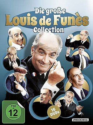16 DVDs * DIE GROSSE LOUIS DE FUNÈS COLLECTION - Louis de Funes # NEU OVP /