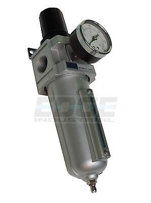 Heavy Duty Air Compressor Filter Regulator 250 Psi 34 Npt Pneumatic Tools