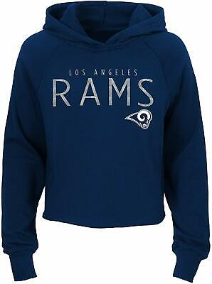 Outerstuff NFL Football Girls Los Angeles Rams Iced Out Long Sleeve Hoodie Iced Out Football