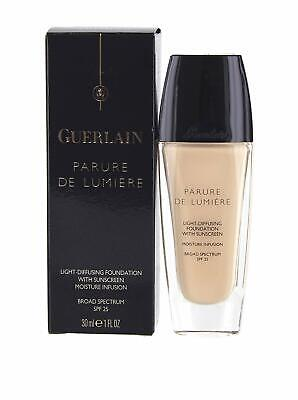 Guerlain Beige Foundation - Guerlain Parure De Lumiere Light Diffusing Foundation 01 Beige Pale 1 oz BOXED