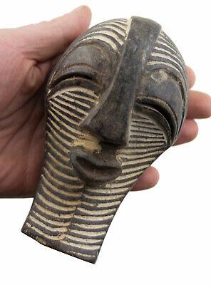 Masquette Kifwebe Mask Songye African DRC Wood 15cm Art First 16845
