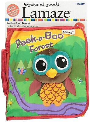 Lamaze Cloth Soft Book Peek-a-Boo Forest Infant Plush Owl Crinkle Baby Toy