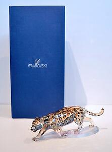 Swarovski Crystal Jaguar Golden Shine Wild Animal 1096796 Brand New In Box