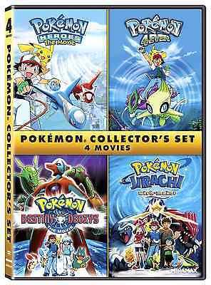 Pokemon Collector's 4 Movie Set DVD Heroes 4Ever Destiny Deoxys Jirachi