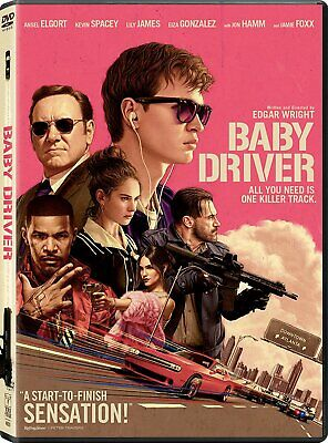 - Baby Driver DVD Ansel Elgort, Kevin Spacey