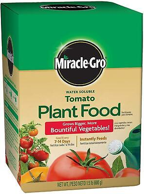 Miracle-Gro Tomato Plant Food Grow Bigger Water Soluble Vegetables Fertilizer