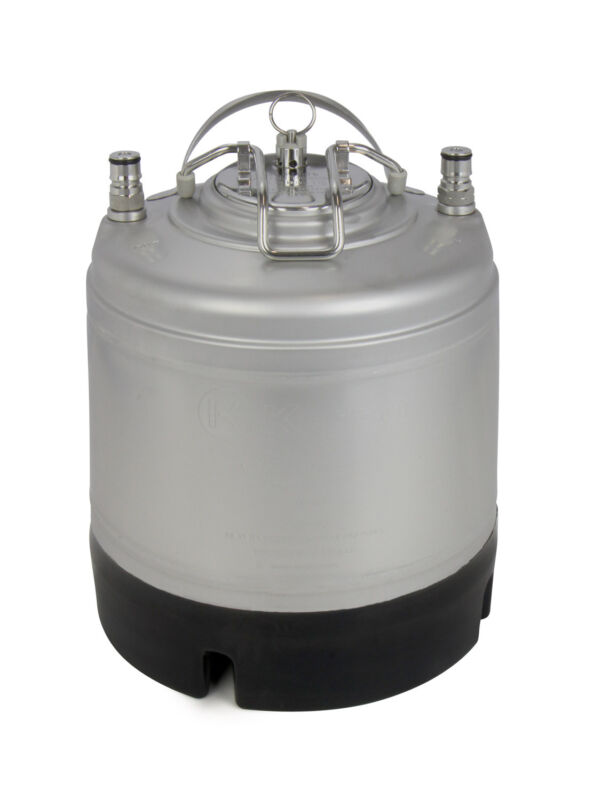 New Kegco 1.75 Gallon Home Brew Ball Lock Keg with Strap Handle