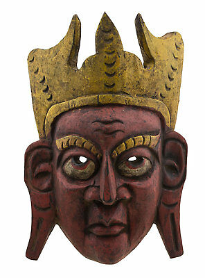 Antique Mask Tibetan of Shaman Wood 29cm Himalaya Nepal 9470 - W6