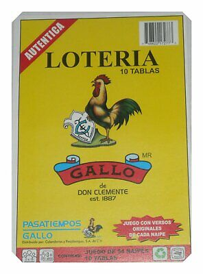 Loteria 10 Different Boards 1 Deck 54 Cards Mexican Bingo Authentic Don Clement