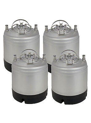 New Kegco 1.75 Gallon Home Brew Ball Lock Keg With Strap Handle - Set Of 4