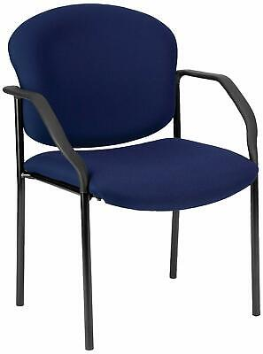 Navy Fabric Reception Office Guest Side Chair - Waiting Room Office Chair