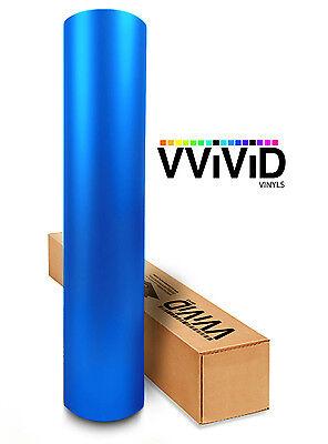 VViViD Metallic Blue Matte car vehicle vinyl wrap 1ft x 5ft decal self-adhesive