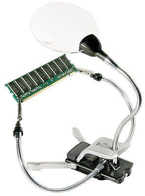 Bresser 2x / 4x 88mm LED Bastellupe - Klemmlupe