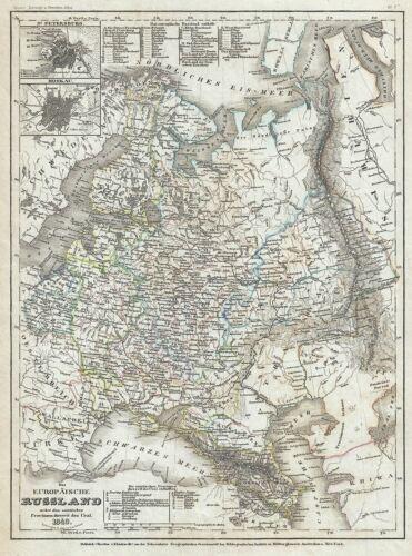 1849 Meyer Map of European Russia
