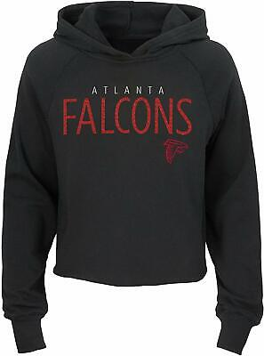 Outerstuff NFL Football Girls Atlanta Falcons Iced Out Long Sleeve Hoodie Iced Out Football