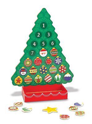 Melissa and Doug Countdown to Christmas Wooden Advent Calendar NEW