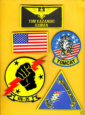 FANCY DRESS HALLOWEEN COSTUME COLLECTIONS: MOVIE TOP GUN ICEMAN PATCH SET